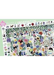 Bilde av Djeco puslespill med100 klistermerker