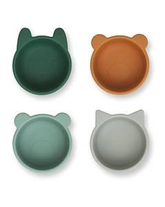 Bilde av Liewood Malene silicone bowl - 4 pack  Green