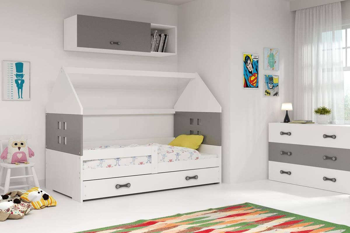 Husseng DOMI hvit/grå barneseng