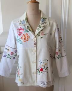 Skjortejakke natur/hvit