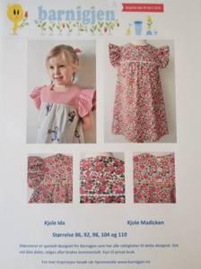 Barnigjen symønster kjole Ida og Madicken