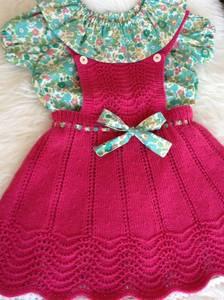 Barnigjen strikkeoppskrift skjørt Mina