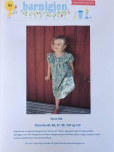 Barnigjen symønster kjole Ella