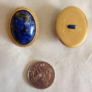 Knapper blå med gull