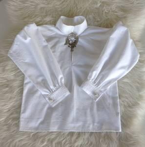 Barnigjen symønster festdraktskjorte Truls og Trine
