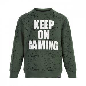 """Bilde av MeToo Sweatshirt, """"Keep on Gaming"""", Olive Thyme,"""
