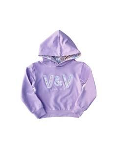 Bilde av Vilje & Ve Poppy Hooded Lilac, Lilla hettegenser