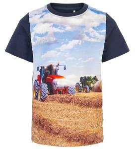 Bilde av Minymo T-shirt - Navy Night med traktor