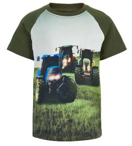 Bilde av Minymo T-shirt - Forest Night med 3traktorer