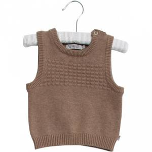 Bilde av Wheat Knit Vest Sailor, Camel Melange
