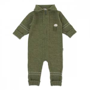 Bilde av Lillelam Ulldress Baby Basic Oliven