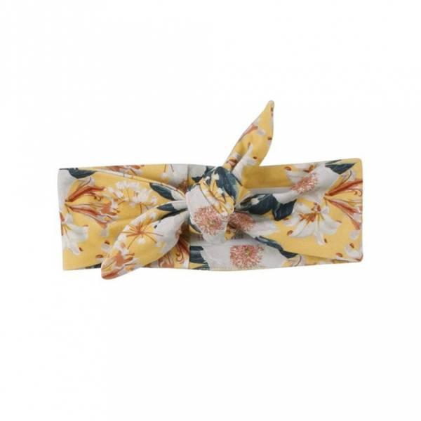 Müsli Bloom Hårbånd, Gult med blomster