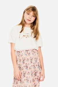 Bilde av Garcia Girls Cropped T-Shirt SS, Off White