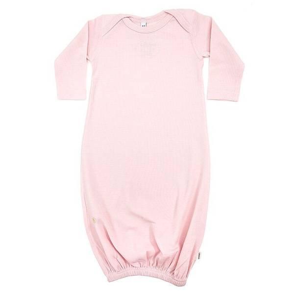 Lillelam babysovepose i ull, rosa