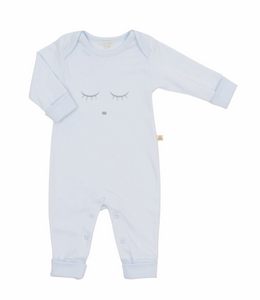 Bilde av Livly Sleeping Cutie Coverall, Baby Blue/grey,