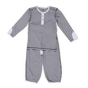 Bilde av Wheat Granddad Pyjamas, navy, todelt pysj til