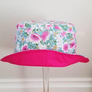 Bilde av Maximo Blomstrete solhatt til jente, rosa og
