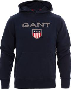 Bilde av Gant Shield Hoodie, hettegenser, Evening Blue