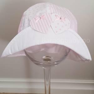 Bilde av Maximo sommerhatt til jente, rosa og hvit med
