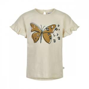 Bilde av Minymo T-shirt Med Print Sommerfugl, White Swan
