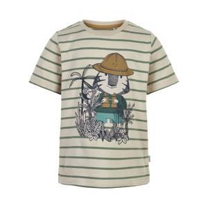 Bilde av Minymo T-shirt Striper med print, Fog