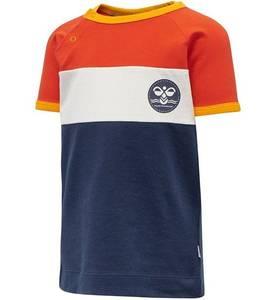 Bilde av Hummel Anton T-shirt Baby, Navy/Orange