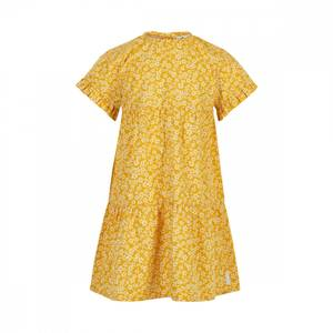 Bilde av Minymo Kjole Blomstret Gul, Yolk Yellow