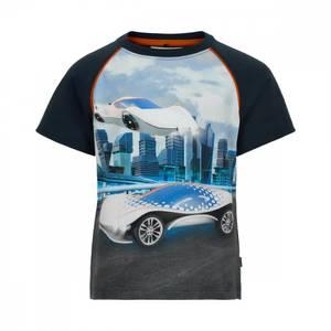 Bilde av Minymo T-shirt Med Print 2 Biler, Total Eclipse