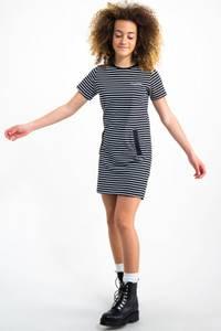 Bilde av Garcia Girls Dress Striped sort og hvit