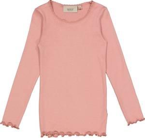 Bilde av Wheat Tshirt Lace, rosie, langermet rosa genser