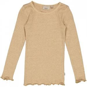 Bilde av Wheat Tshirt Lace, Sand Melange, langermet genser
