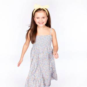 Bilde av Vilje & Ve Mandy Dress SS20, Printed Blue