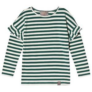 Bilde av Creamie T-shirt Stripe LS, Bistro Green