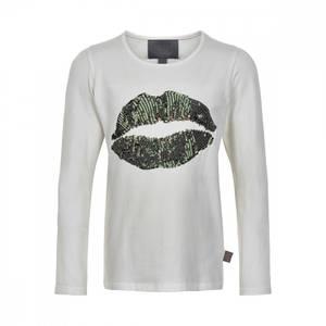 Bilde av Creamie T-shirt Lips Sequins LS, Bistro Green