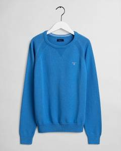 Bilde av GANT CASUAL COTTON CREW PACIFIC BLUE