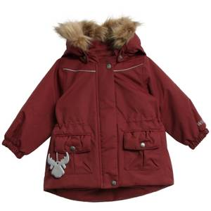 Bilde av Wheat Baby Jacket Mathilde Burgundy, Ensfarget