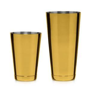 Bilde av Set Of Two Koriko Shaker Tins Gold