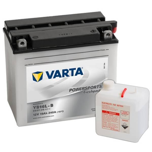 Bilde av  VARTA YB16L-B MC Batteri 12V 19AH 240CCA (176x101x156mm) +høyre