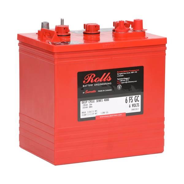 Bilde av ROLLS 6-FS-GC Deep Cycle Batteri 6V 215AH (259x181x279mm)