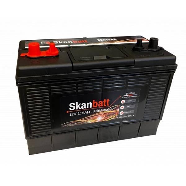 Bilde av SKANBATT Fritidsbatteri 12V 115AH 800CCA (330x172x222/242mm) Dua