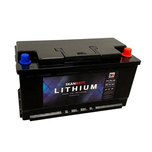 Bilde av SKANBATT Bluetooth Lithium Batteri 12V 98AH 100A BMS - BOBILBATT