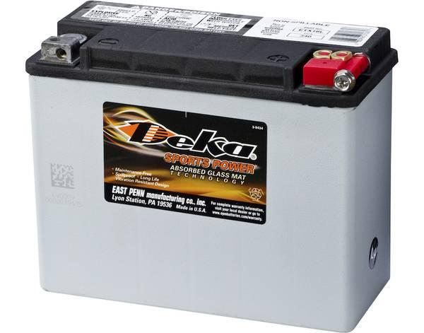 Bilde av DEKA MC Batteri 12V 20AH 340CCA (206x91x163mm) +høyre