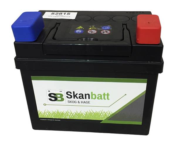 Bilde av SKANBATT Plenklipper Batteri 12V 28AH 240CCA (186x130x171mm) +hø