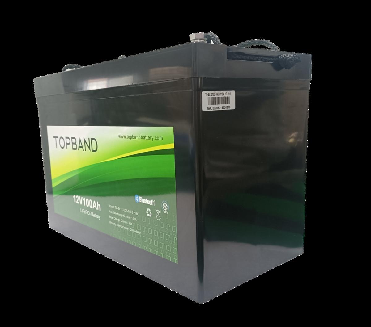 TOPBAND Lithium HEAT PRO - 12V 100AH - 150 BMS Bluetooth