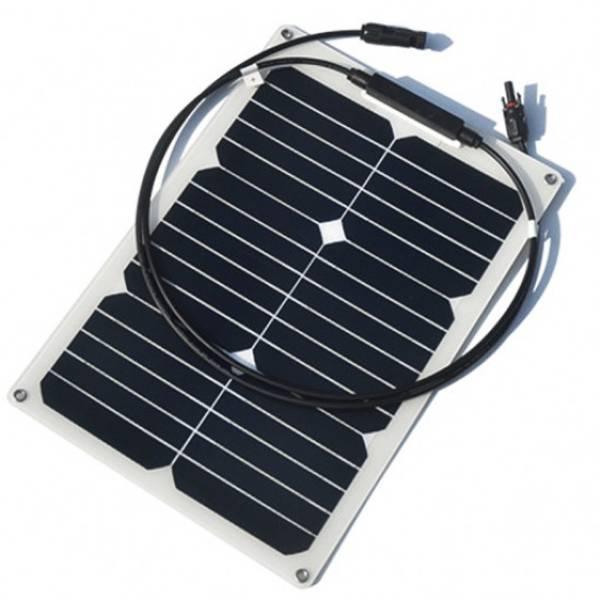 Bilde av 18W SKANBATT Fleksibelt Solcellepanel Mono 18W