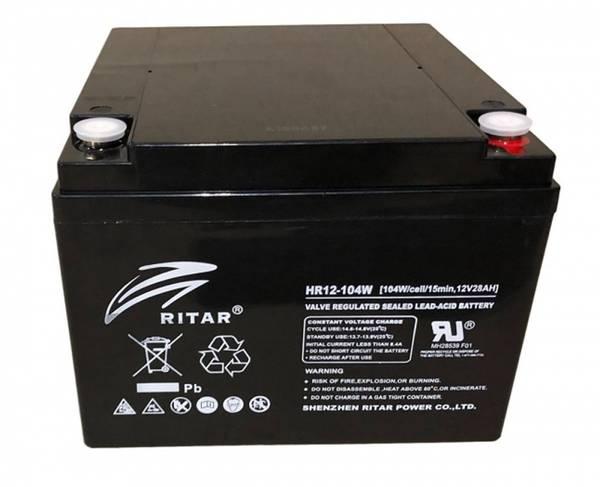 Bilde av RITAR AGM Batteri 12V 24AH (166x175x125mm) M5