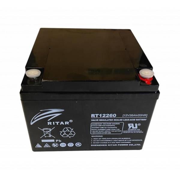 Bilde av RITAR AGM Batteri 12V 26AH (166x175x125mm) M5