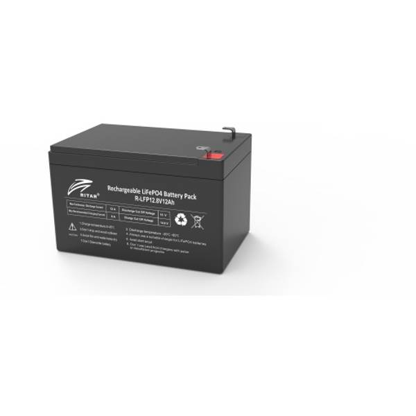 Bilde av RITAR Lithium Batteri 12V 12Ah (LiFePO4) BMS 12A
