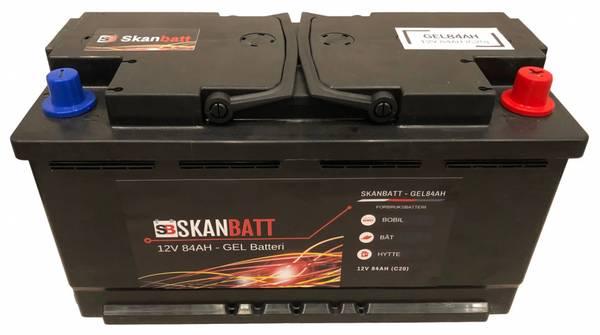 Bilde av SKANBATT GEL BATTERI 12V 84AH (353x175x190mm) +høyre