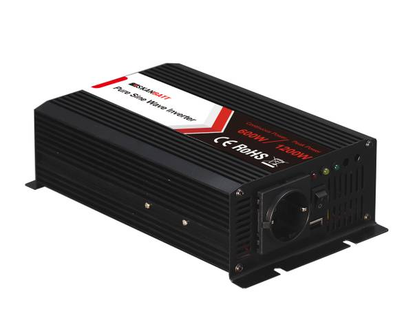Bilde av SKANBATT Inverter 48V 600W (1200W) Ren Sinus